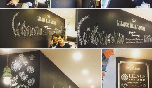 美容室5周年記念の黒板アート