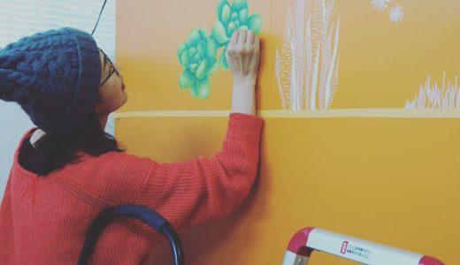 美容室 キッズルーム壁画制作