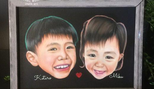 子ども似顔絵の贈り物
